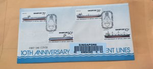 1978 SINGAPORE U/A REGISTERED FDC ON NEPTUNE ORIENT LINES STAMP SET STAMPS
