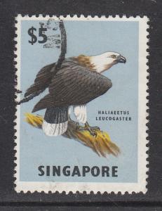 Singapore 1962 Sc 69 Eagle $5 Used