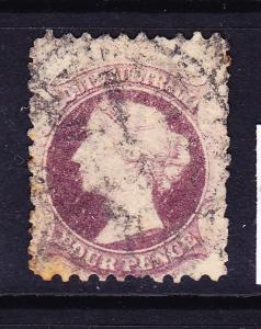 SOUTH AUSTRALIA  1870-73  4d DULL LILAC   QV  FU  SG 103
