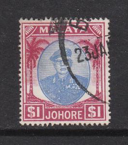Malaya Johore 1949 Sc 148 $1 Used