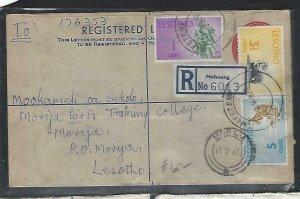 LESOTHO  (PP0609B)  1970 10C   RLE+ 1/2C+3 1/2C+5C MAFETENG TO MORIJA