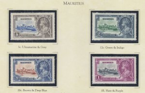 MAURITIUS, 1935 Silver Jubilee set of 4, heavy hinged.