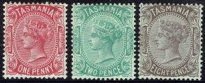 TASMANIA 1878 QV SET 1D 2D 8D PERF 14