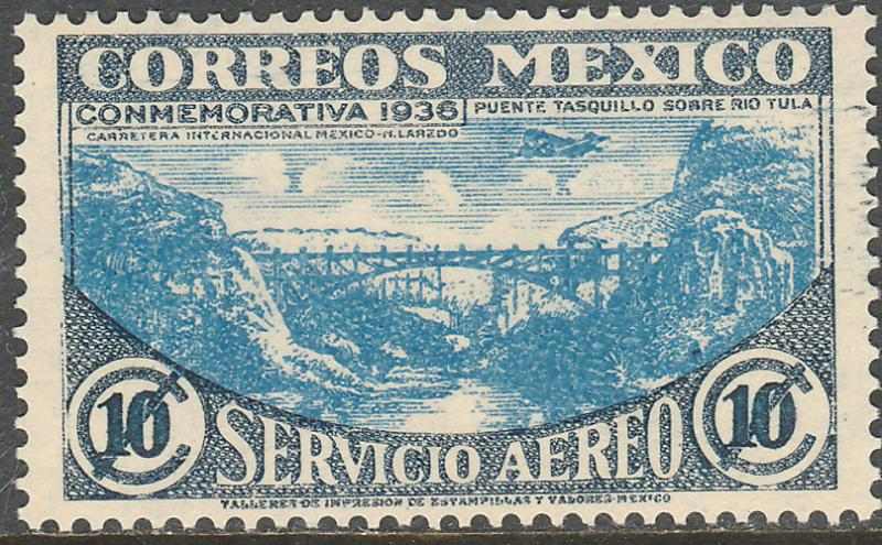 MEXICO C77, 10c HIGHWAY INAUGURATION, MINT, NH