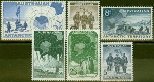 A.A.T 1957-59 set of 5 SG1-5 V.F Lightly Mtd Mint