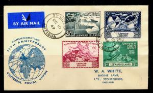 LEEWARD ISLANDS SG119-122, COMPLETE SET, FINE used. U.P.U FD