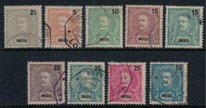 Angola #38-46 CV $7.10