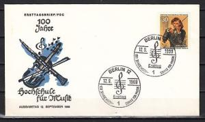 Germany, Scott cat. 9n280. Violinist issue. First day cover.