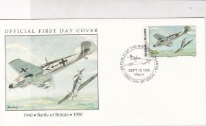 Marshall Islands 1990 Battle of Britain Planes Pic + Stamp FDC Cover Ref 32040