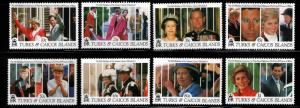 Turks & Caicos Islands Scott 913-920 MH* set
