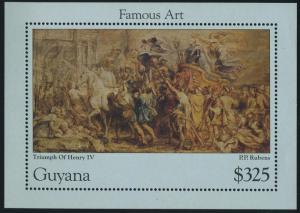 Guyana 3041,MNH. Triumph of Henry IV,by Peter Paul Rubens,1996.