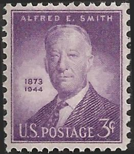 # 937 MINT NEVER HINGED ALFRED E. SMITH