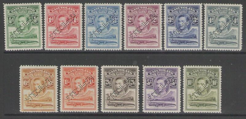 BASUTOLAND SG18s/28s 1938 SPECIMEN SET MTD MINT