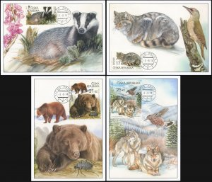 Czech Republic. 2014. The Beskyd Mountains (Mint) Set of 4 Maxi Cards