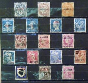 ALGERIA  MH-Used   Scott # 1, 2, 3, 13, 16, 25, 182, 194, 200-4, 207-8, J33-34