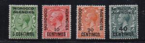 Great Britain Morocco Sc 63-66 1929-31 G V stamp set mint