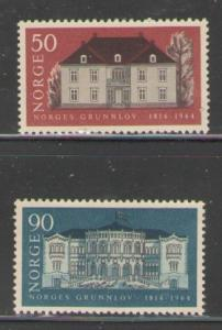 Norway Sc 454-5 1964 Constitution stamps mint NH