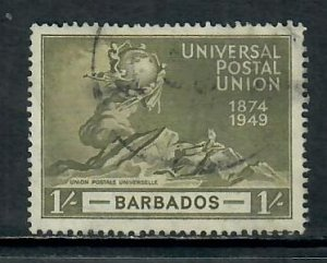 BARBADOS 1949 UPU 1/- USED