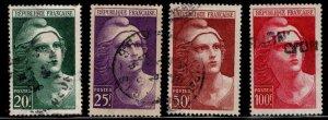 FRANCE Scott 553-556 Used Large Marianne stamp set