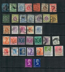 HONG KONG COLONIAL MIXTURE x 32 LOT h A ALLDIFFERENT USED