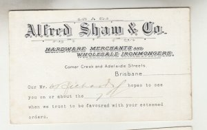 QUEENSLAND, Postal Card PTPO. 1911 1d. Red, ALFRED SHAW & Co, Warwick to Gympie
