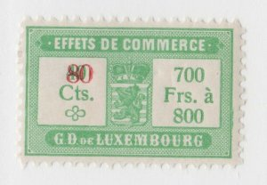 Luxembourg Revenue tax Fiscal stamp 6-6-21 nice- mint gum- mlh- scarce OP