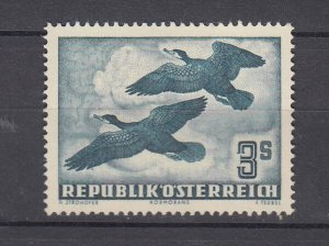 J29508, 1950-3 austria mng #c57 birds $120.00 scv