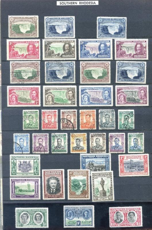 Collection of 99 Southern Rhodesia Stamps. Mint/Used. Primarily Early to 1970's.