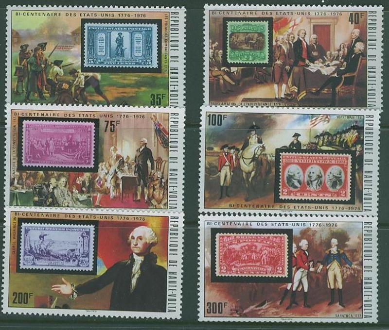 Upper Volta SC# 352-7 US Bicentenial Celebration 6 issus MNH
