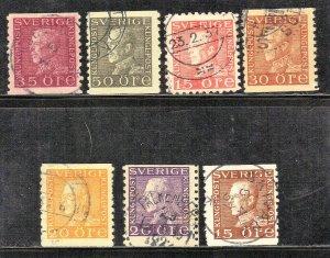 SWEDEN stamp lot #5  KING GUSTAF V   SEE SCAN