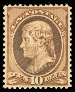 MOMEN: US STAMPS #209 MINT OG NH