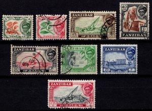 Zanzibar 1957 Definitives, Part Set [Used]