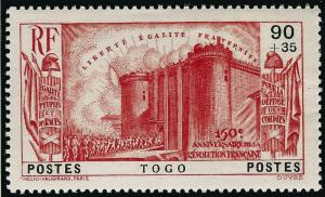 French Togo French Revolution (Sc B4) VF MNH...Don't Overpay...!