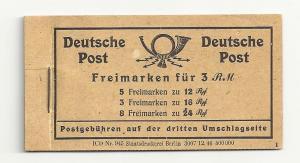 Germany: Complete 1947 Michel MH50 Booklet (Zusammendrucke)