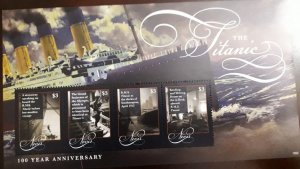 U) 2012, SAINT KITTS AND NEVIS, 100 ANNIVERSARY OF THE TITANIC,  MULTIPLE STAMPS