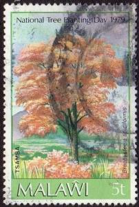 Malawi 342 - Used - Flowering Tree