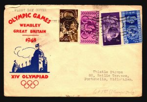 Great Britain 1948 Wembley Cover / FDC / Light Creasing - Z17036