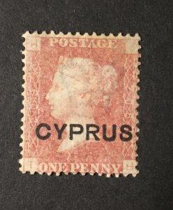 Cyprus Sc. #2, plate 208, mint no gum, CV $135 as hinged