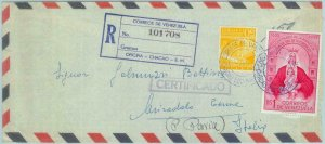 84327 -  VENEZUELA - POSTAL HISTORY - Registered AIRMAIL COVER to  ITALY 1959