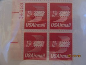 SCOTT C-79 13 CENT WINGED ENVELOPE AIRMAIL 1971 OG