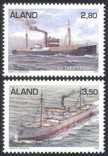 Aland 1997 Finland Thornbury Osmo Transport Ships Navy Miltary Stamps MNH