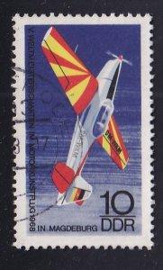 German Democratic Republic  DDR  #1030  used  1968  stunt planes 10pf