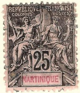 Martinique (Sc #43) Fine Used..Prices are Rising!