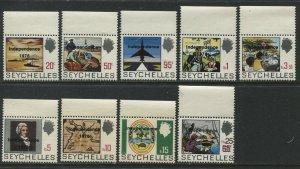 Seychelles QEII 1976 definitive set mint o.g. hinged