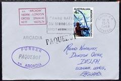 Australian Antarctic Territory used in Senegal 1968 Paque...