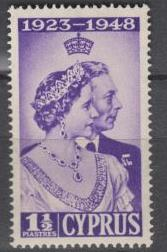 Cyprus - 1948 Silver Wedding Issue - MNH (8728)
