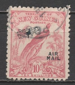 NEW GUINEA 1932 UNDATED BIRD AIRMAIL 10/- USED
