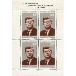 B)1965 IVORY COAST, PRESIDENT, CHARACTER,  PRESIDENT JOHN F. KENNEDY, SC C29 AP7