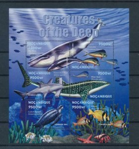 Mozambique MNH S/S Creatures Of The Sea Marine Life 2001