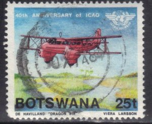 BOTSWANA SC# 352 **USED** 25t 1984  40TH ANNIV. ICAO SEE SCAN